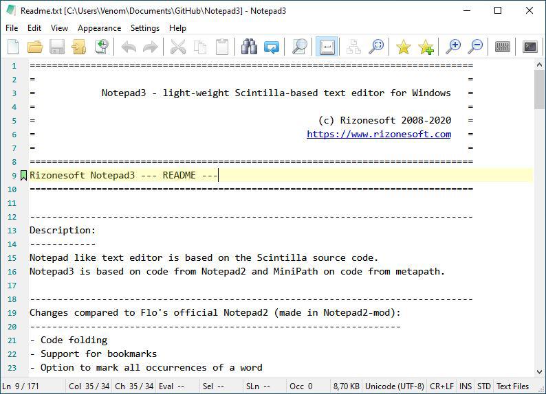 Notepad3 full screenshot