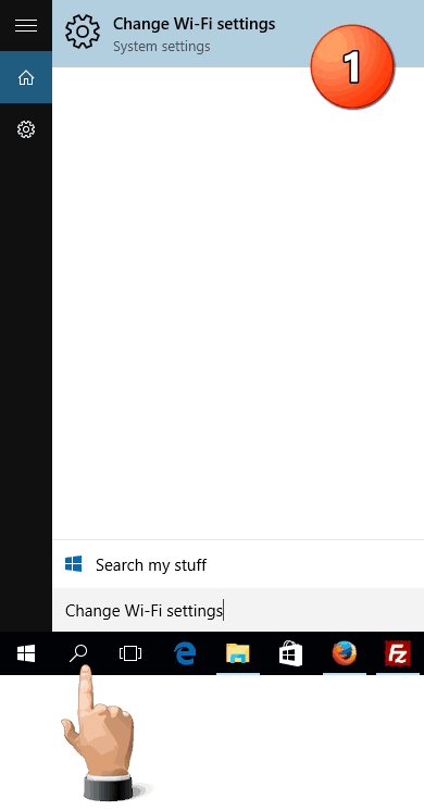 Change Wi-Fi settings Search