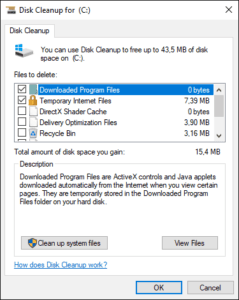 Clean and speed up Windows 10 with the built-in Disk Cleanup utility