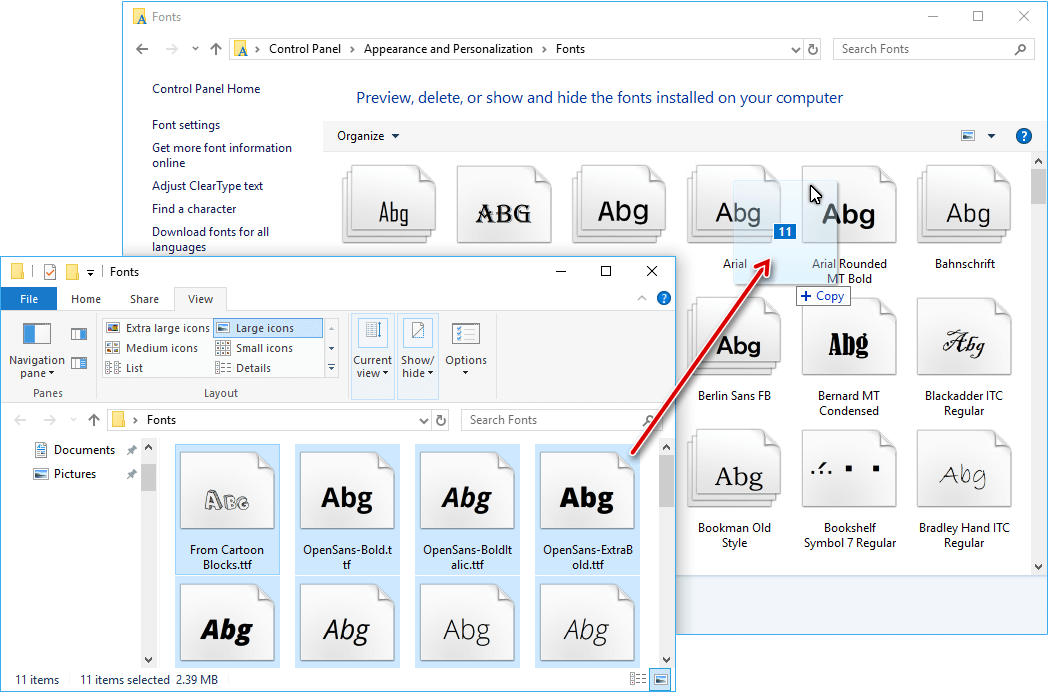 How to Install and Remove Fonts in Windows 10 – Rizonesoft