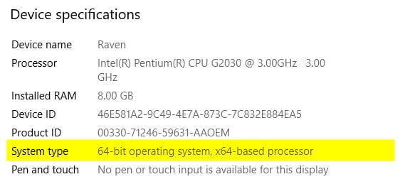 Running 32-bit or 64-bit Windows