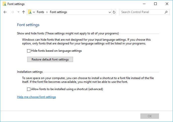 Restore Default Fonts in Windows 10 – Rizonesoft